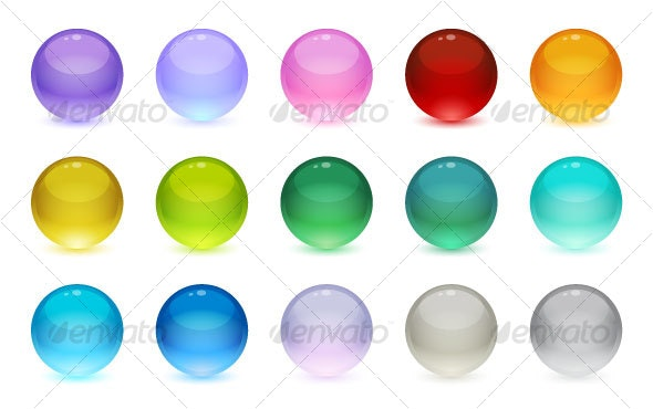 Glass Orbs - Decorative Vectors