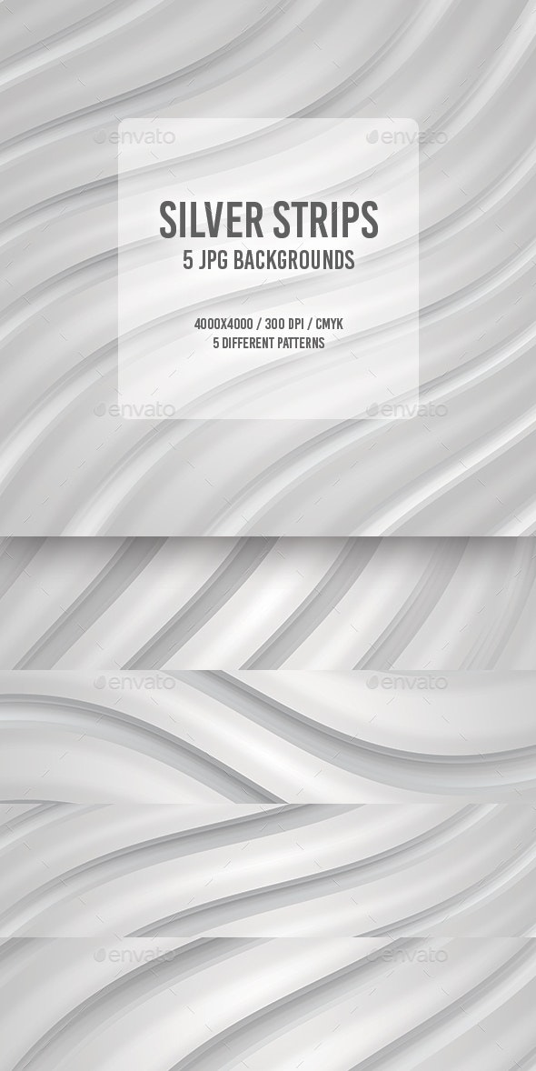 Silver Strips - Abstract Backgrounds
