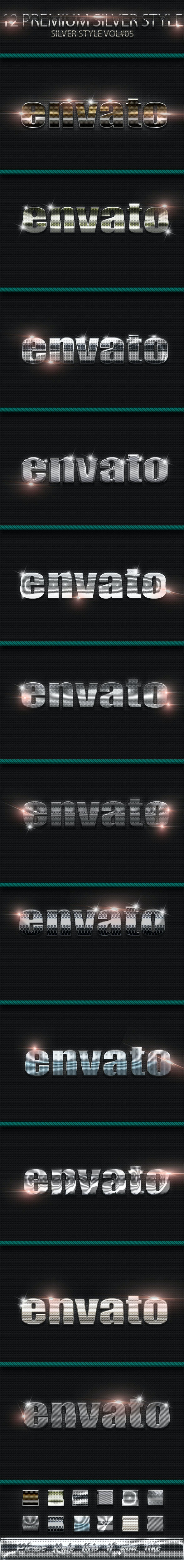 12 Photoshop Text Effect Styles Vol 5 - Text Effects Styles