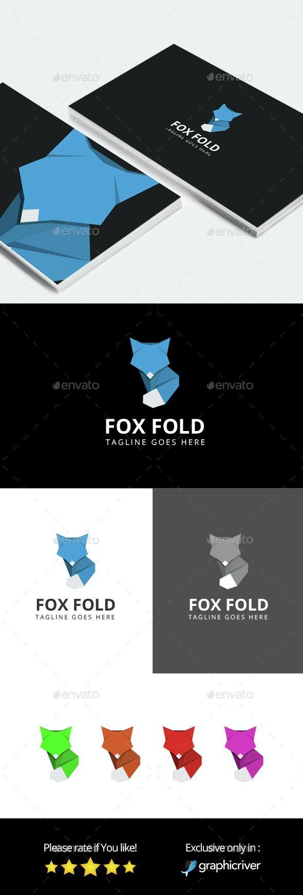 Fox Fold - Logo Template - Animals Logo Templates