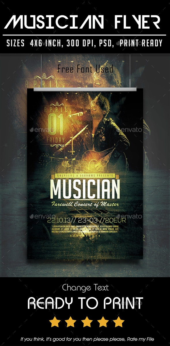 Musician Flyer - Concerts Events