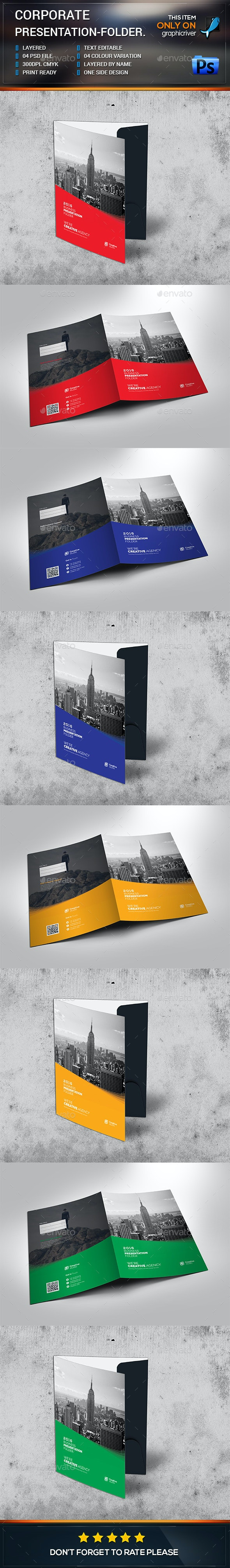 Corporate Business Presentation-Folder - Stationery Print Templates