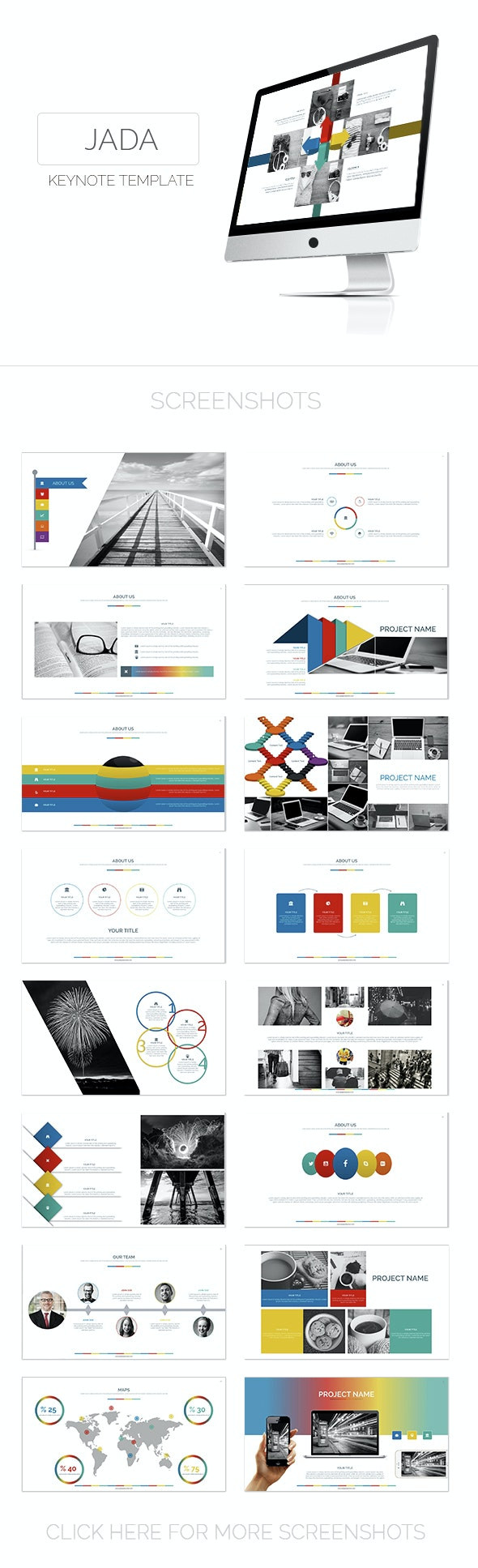 Jada Keynote Template - Creative Keynote Templates