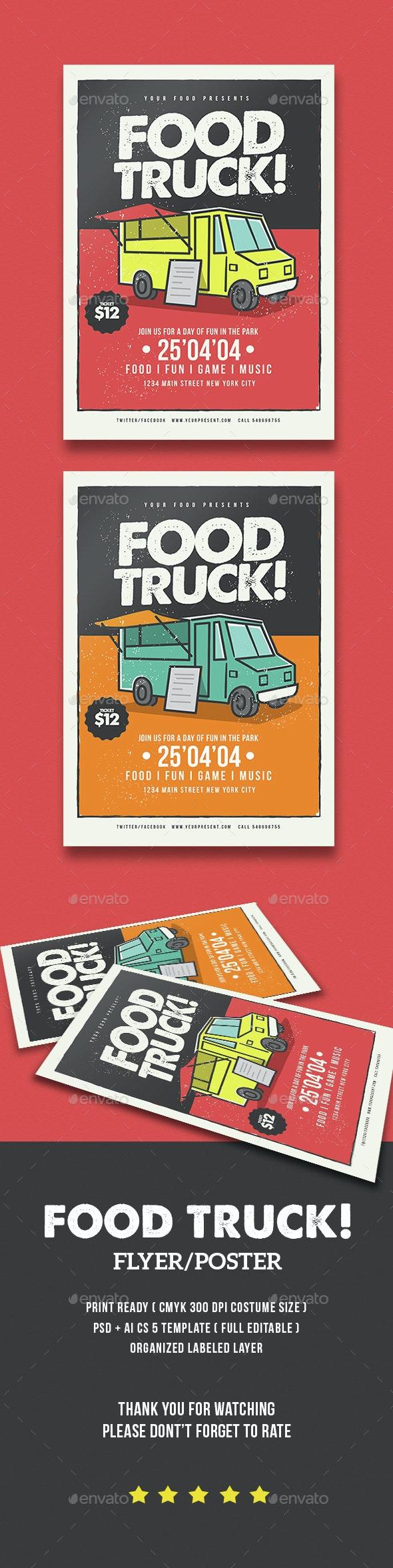 Food Truck Flyer - Flyers Print Templates