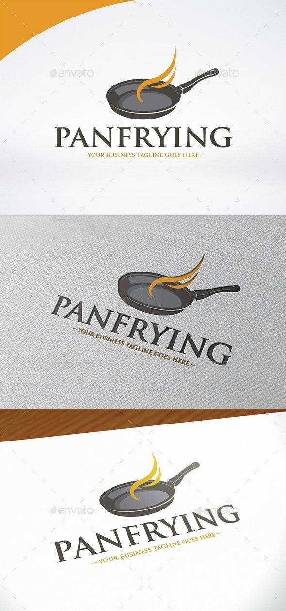 Pan Frying Logo Template - Food Logo Templates