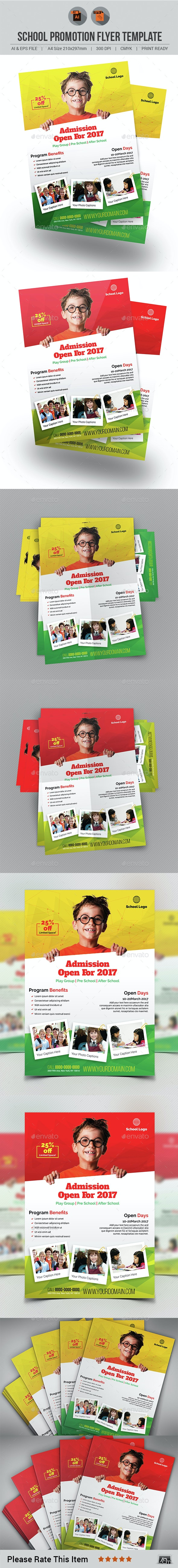 School Promotion Flyer Template - Corporate Flyers