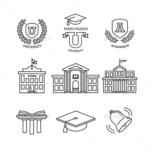 Mortar Board, Education, School and University - Buildings Objects
