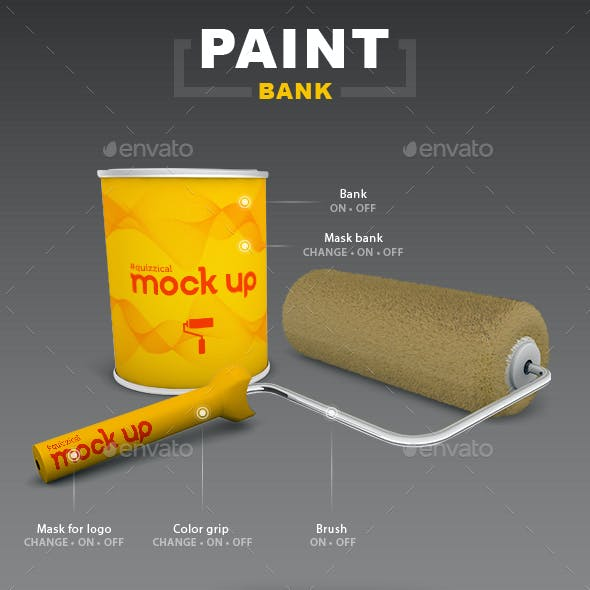 Bank and Roller Mock Up Paint