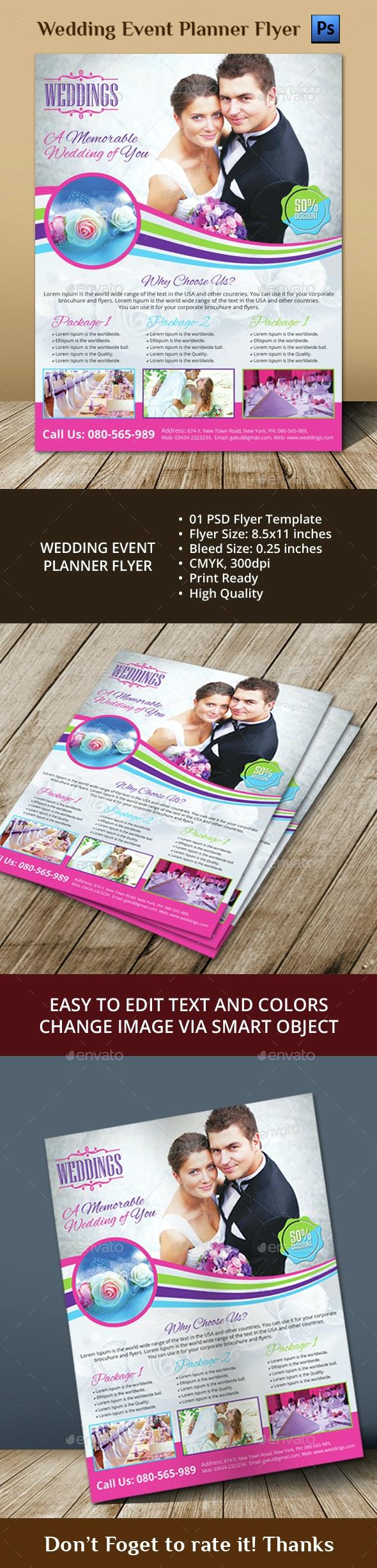 Wedding Event Planner Flyer - Events Flyers