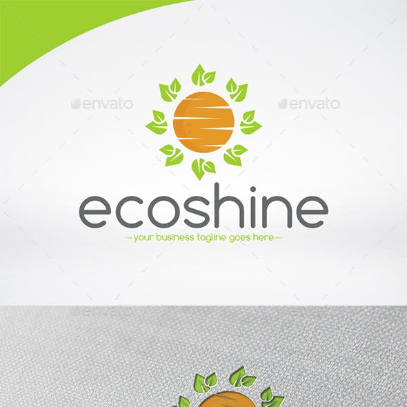 Eco Sun Logo Template
