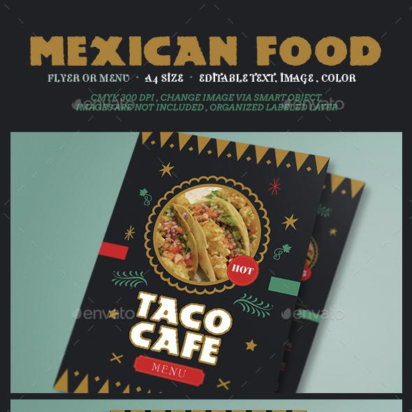 Mexican Food Flyer Menu