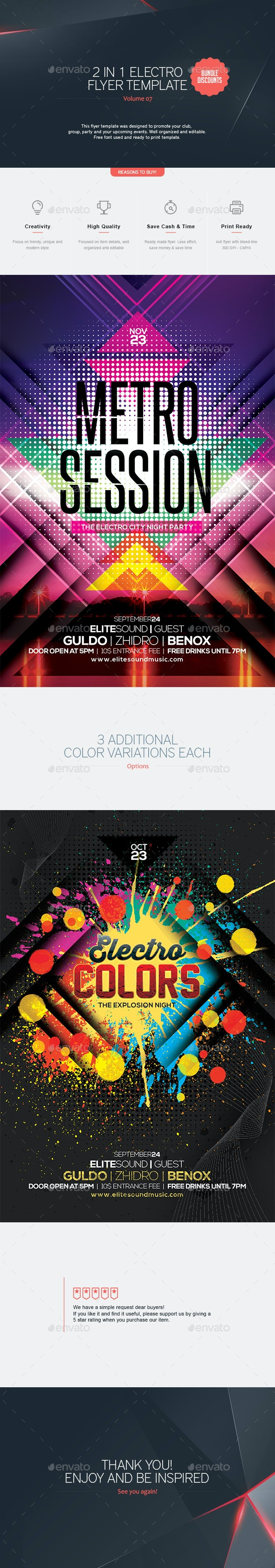 2 in 1 - Electro Flyer  V.7 - Clubs & Parties Events