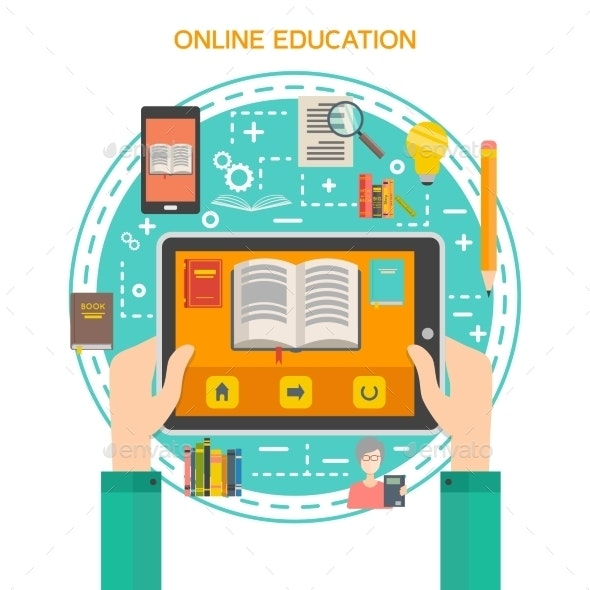 Online Library Concept - Web Technology