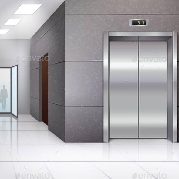 Hall with Elevator