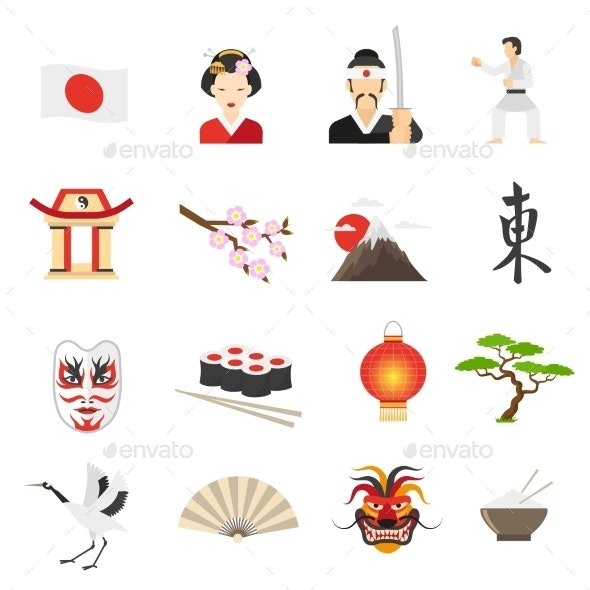 Japan Icons Set  - Objects Icons