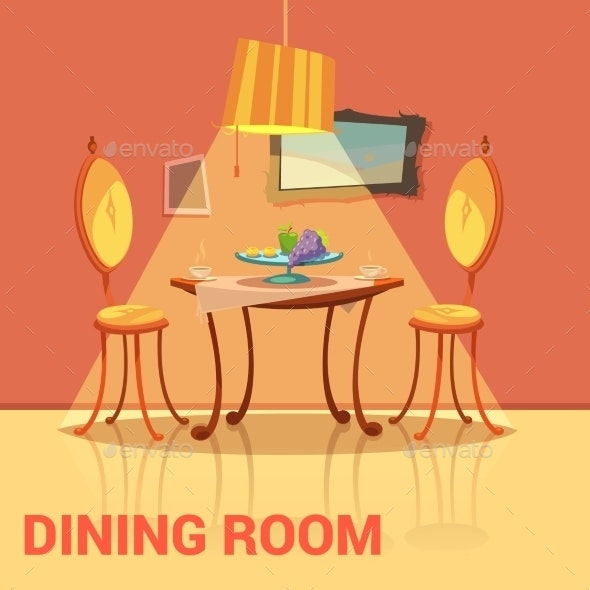 Dining Room Retro Design  - Man-made Objects Objects