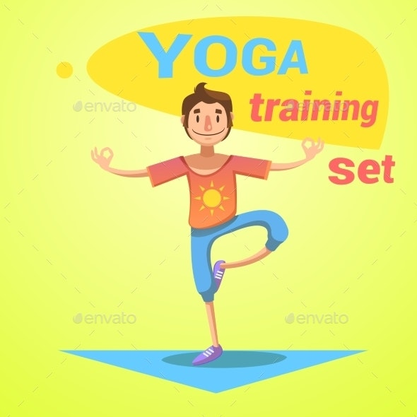 Yoga Training Set - Health/Medicine Conceptual