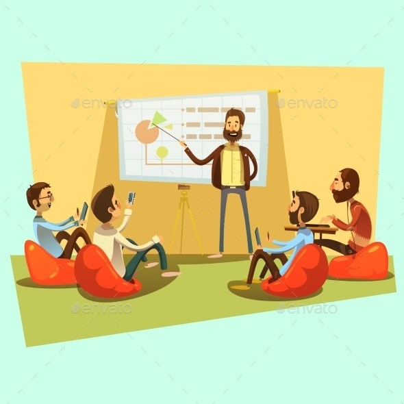 Business Meeting Cartoon Illustration  - Concepts Business