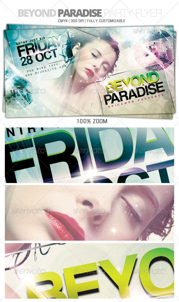 Beyond Paradise Flyer - Clubs & Parties Events