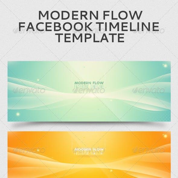 Modern Flow Facebook Timeline Template