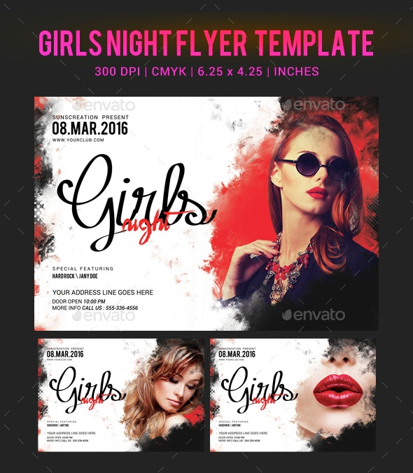 Girls Night Party Flyer Template - Clubs & Parties Events
