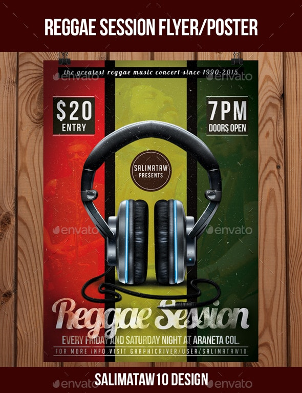 Reggae Session Flyer / Poster - Events Flyers