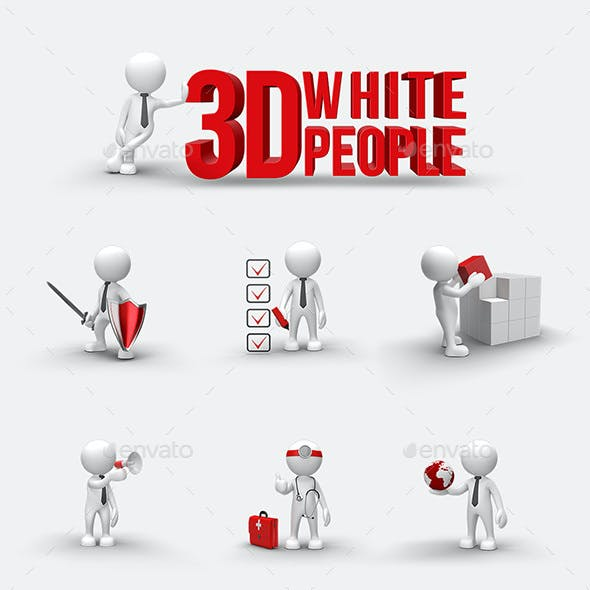 3D White Character