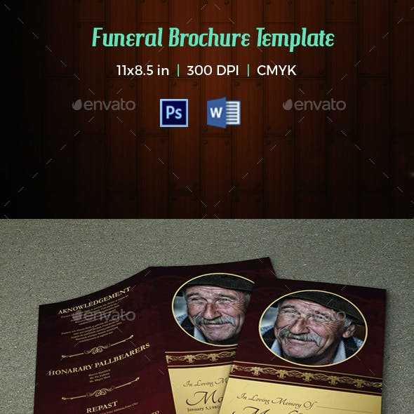 Funeral Program Template-V30