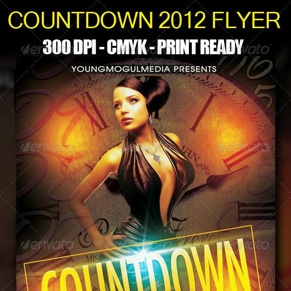 Countdown 2012 Flyer Template