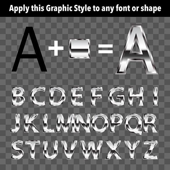 Metal Graphic Style 1 - Styles Illustrator