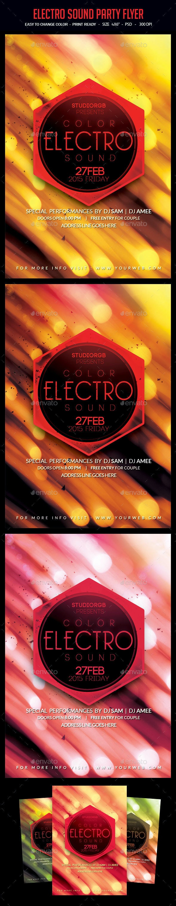 Electro Sound Party Flyer - Clubs & Parties Events