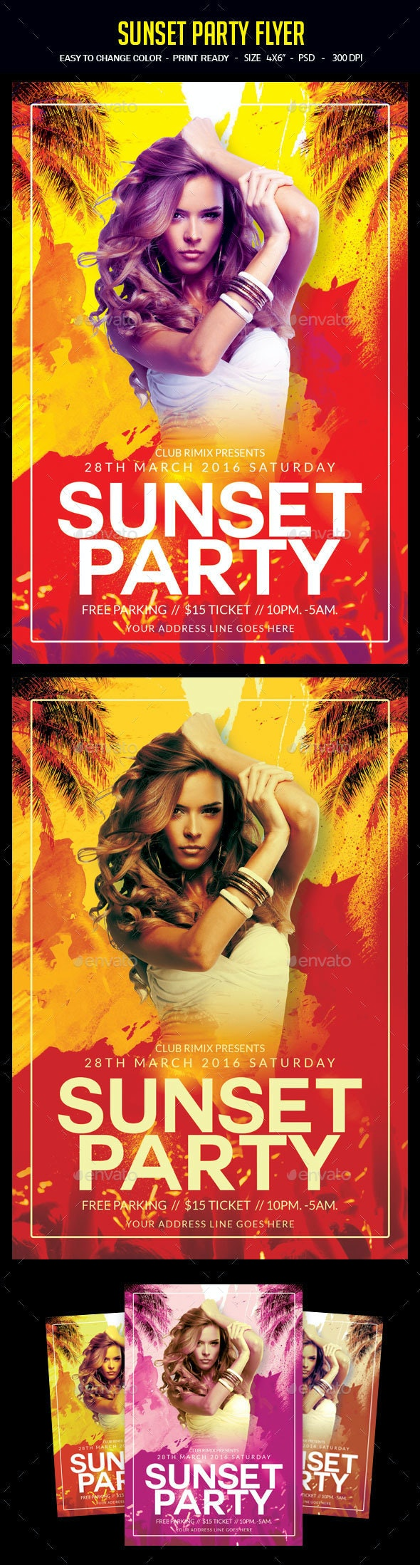 Sunset Party Flyer - Clubs & Parties Events