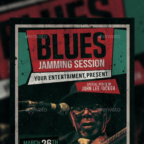 Blues Music Flyer