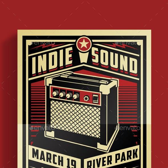 Indie Sound Flyer Poster