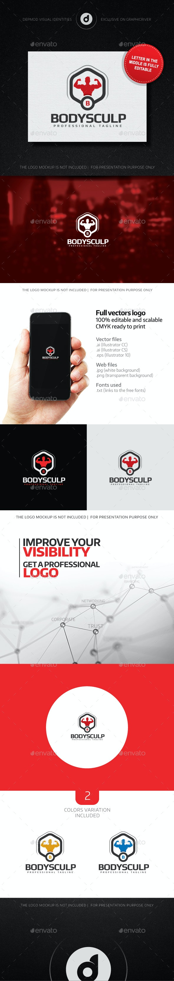 Bodysculp Logo - Humans Logo Templates