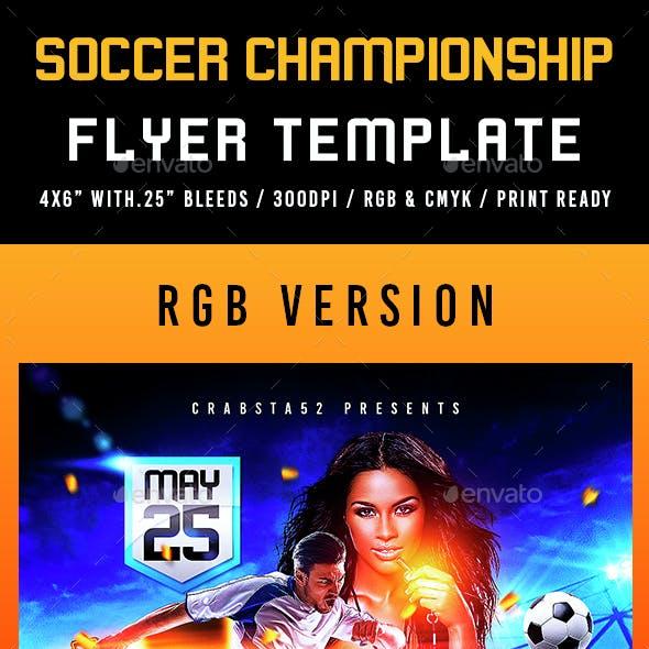 Soccer Championship Flyer Template
