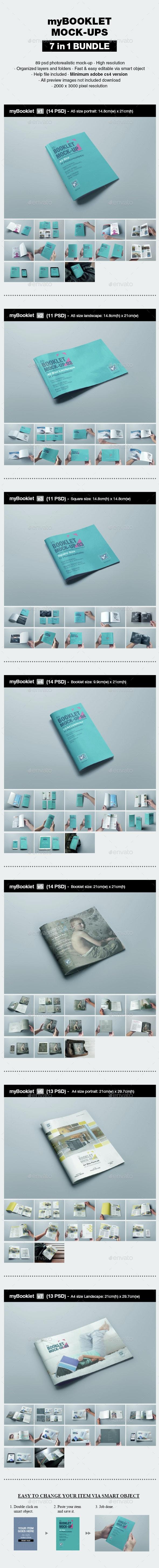 myBooklet Mock-up Bundle - Print Product Mock-Ups