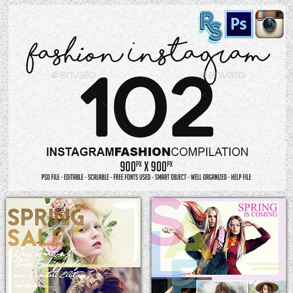 Instagram Fashion Banners Collection