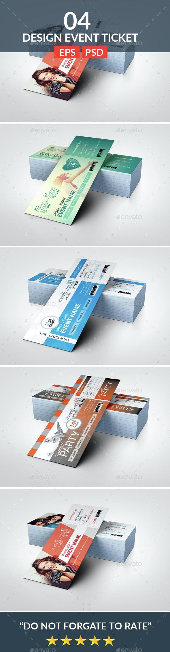 Event Ticket Bundle - Cards & Invites Print Templates