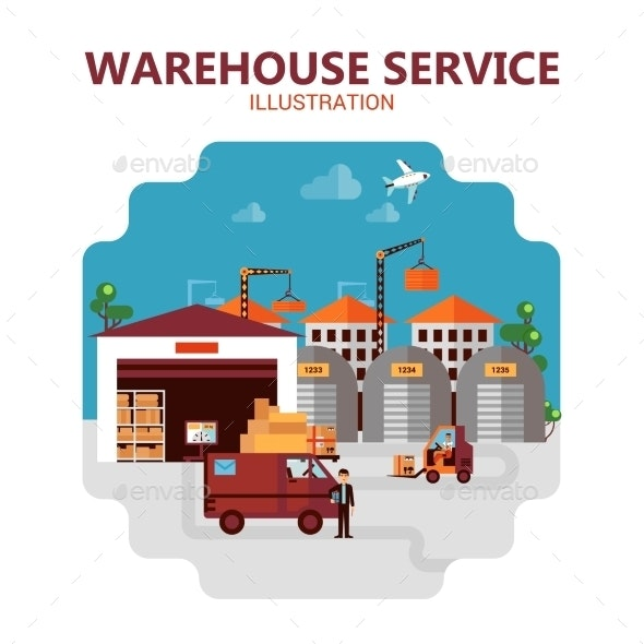Warehouse Service Illustration - Concepts Business