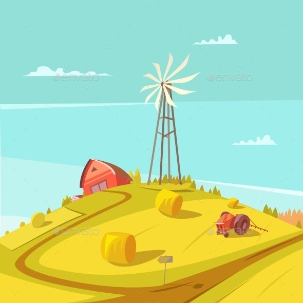 Farming and Agriculture Background  - Landscapes Nature