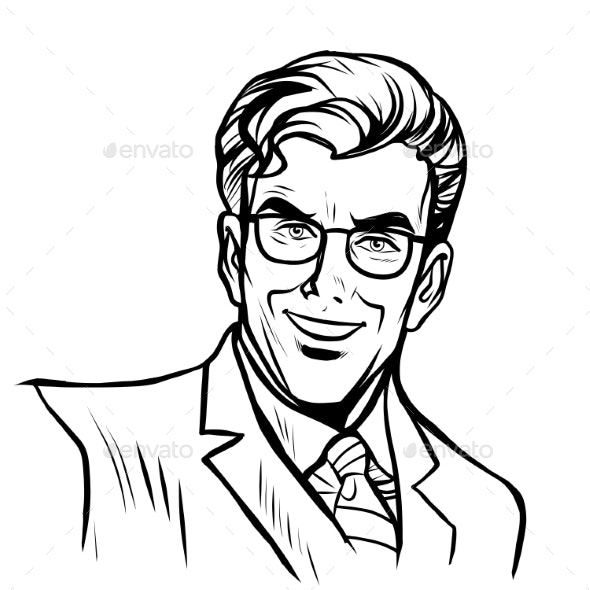 Businessman Line Art - People Characters