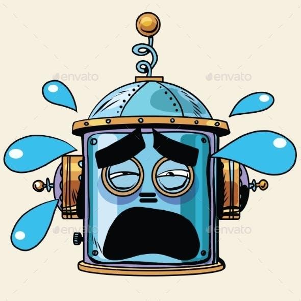 Tears Emoji Robot Head Smiley Emotion