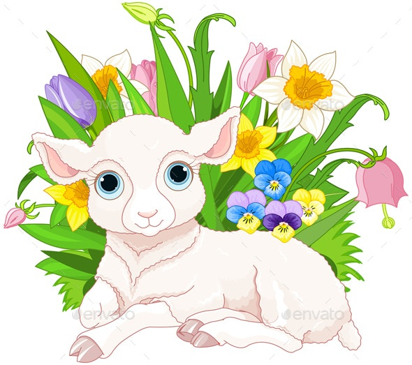 Easter Sheep - Animals Characters
