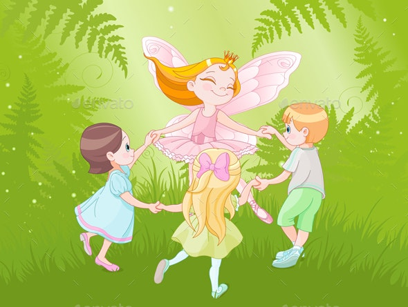 Fairy and Children - People Characters