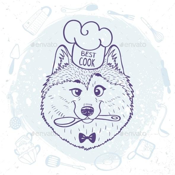 Husky Best Cook - Animals Characters