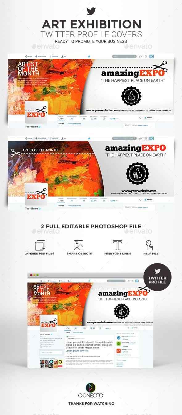 Twitter Profile Covers - Art exhibition - Twitter Social Media