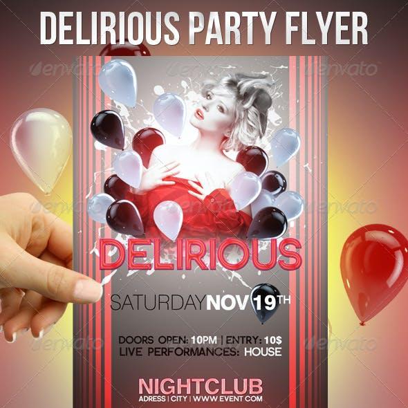 Delirious Party Flyer