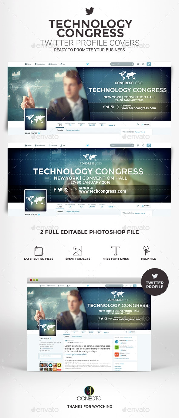 Twitter Profile Covers - Technology Congress - Twitter Social Media