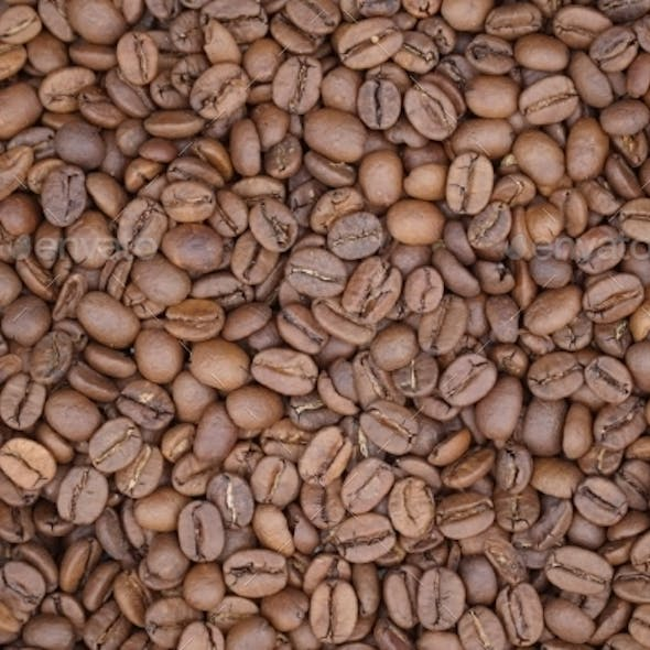 Modern Close Up Coffee Beans Background